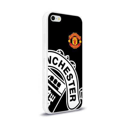 Чехол для Apple iPhone 5/5S силиконовый глянцевый  Фото 02, Manchester United - Collections 2017 / 2018