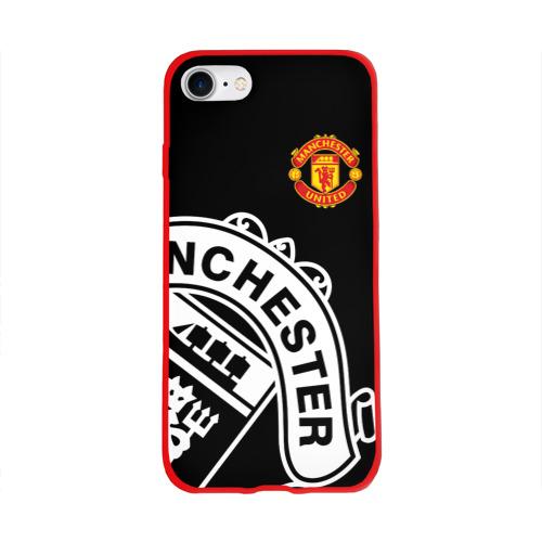 Чехол для Apple iPhone 8 силиконовый глянцевый Manchester United - Collections 2017 / 2018