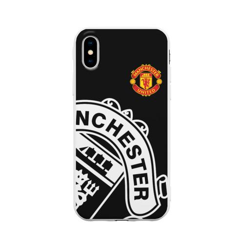 Чехол для Apple iPhone X силиконовый матовый Manchester United - Collections 2017 / 2018