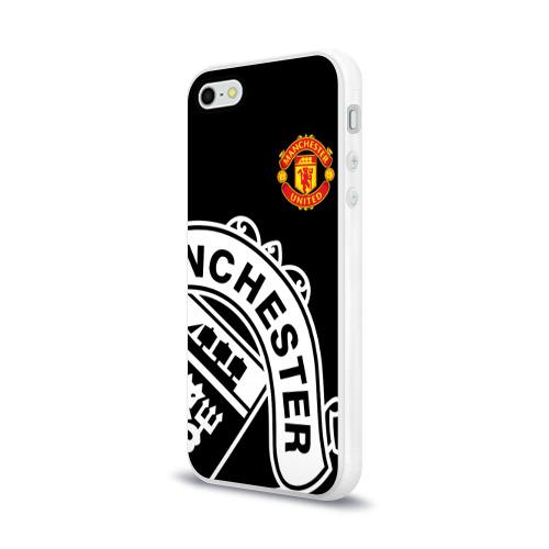 Чехол для Apple iPhone 5/5S силиконовый глянцевый  Фото 03, Manchester United - Collections 2017 / 2018