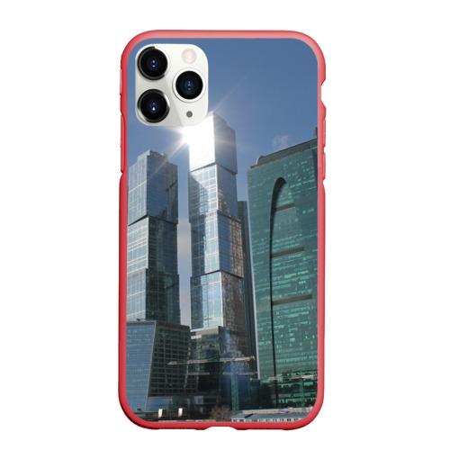 Чехол для iPhone 11 Pro Max матовый Москва-сити Фото 01