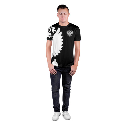 Мужская футболка 3D спортивная Russia - Black collection Фото 01