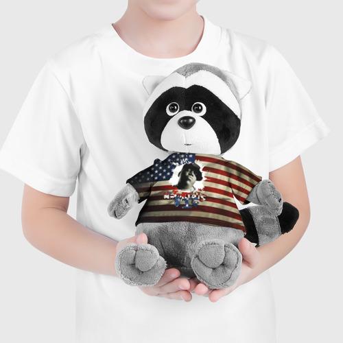 Енотик в футболке 3D  Фото 04, The Notorious B.I.G.  флаг США