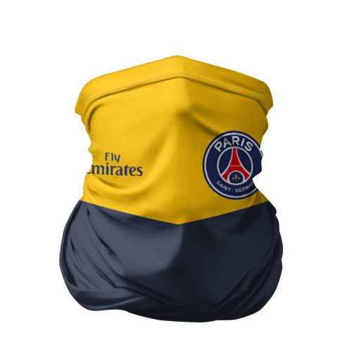 Бандана-труба 3D  Фото 01, Paris Saint-Germain - Navy Yellow (Collections 2018)
