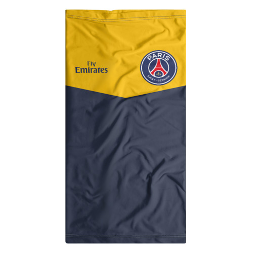 Бандана-труба 3D  Фото 07, Paris Saint-Germain - Navy Yellow (Collections 2018)