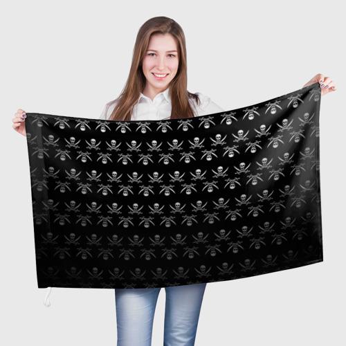 Флаг 3D  Фото 01, Пиратский pattern