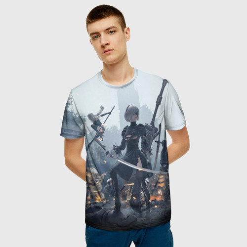 Мужская футболка 3D  Фото 03, Nier automata