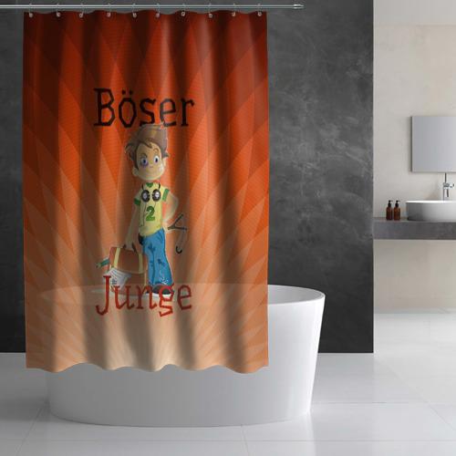 Штора 3D для ванной  Фото 02, хулиганишка
