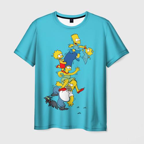 Мужская футболка 3D Семейка Симпсонов 2