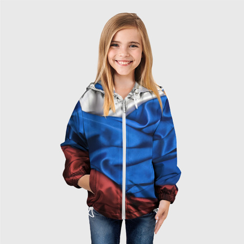 Детская ветровка 3D Российский Триколор Фото 01