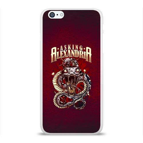 Чехол для Apple iPhone 6Plus/6SPlus силиконовый глянцевый  Фото 01, Asking Alexandria змея