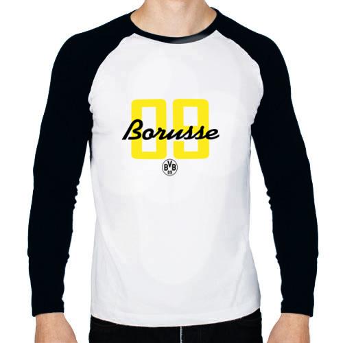 Мужской лонгслив реглан  Фото 01, Borussia Dortmund - Borusse 09 (New 2018 Design)