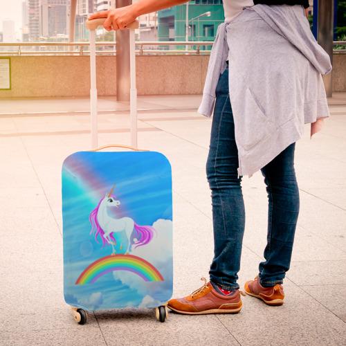 Чехол для чемодана 3D  Фото 04, Единорог