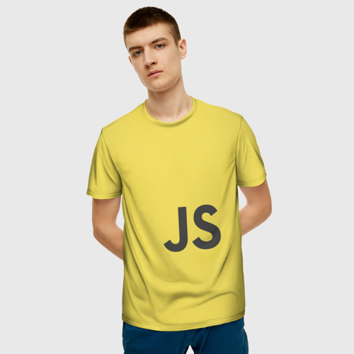 Мужская футболка 3D JavaScript Фото 01