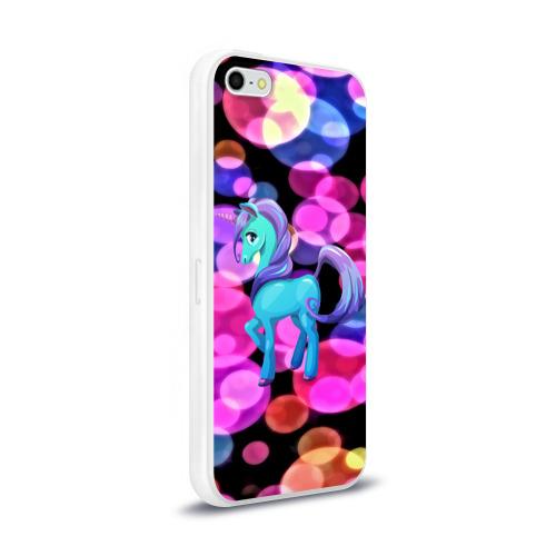 Чехол для Apple iPhone 5/5S силиконовый глянцевый Милый единорог Фото 01