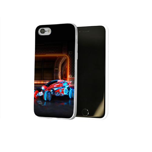 Чехол для Apple iPhone 8 силиконовый глянцевый  Фото 02, Rocket League