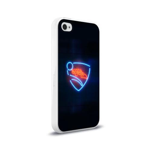 Чехол для Apple iPhone 4/4S силиконовый глянцевый  Фото 02, Rocket League