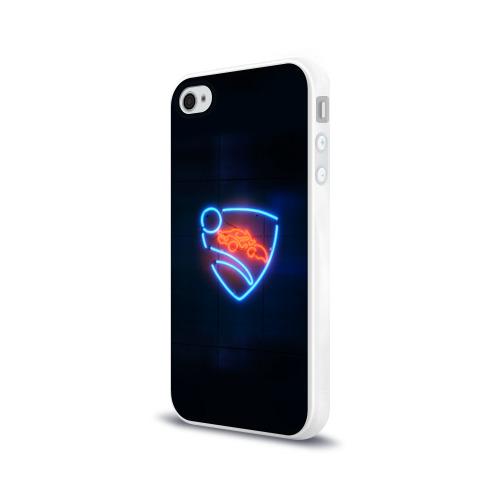 Чехол для Apple iPhone 4/4S силиконовый глянцевый  Фото 03, Rocket League