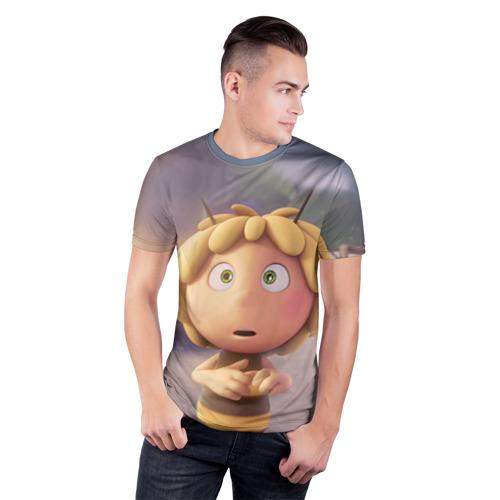 Мужская футболка 3D спортивная  Фото 03, Пчелка Майя