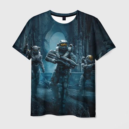Мужская футболка 3D  Фото 01, Halo wars
