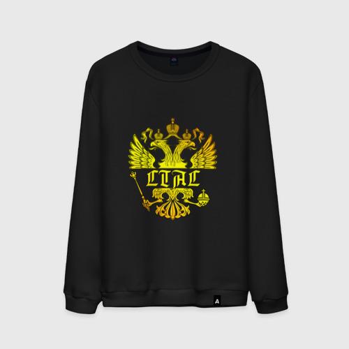 Мужской свитшот хлопок  Фото 01, Стас в золотом гербе РФ