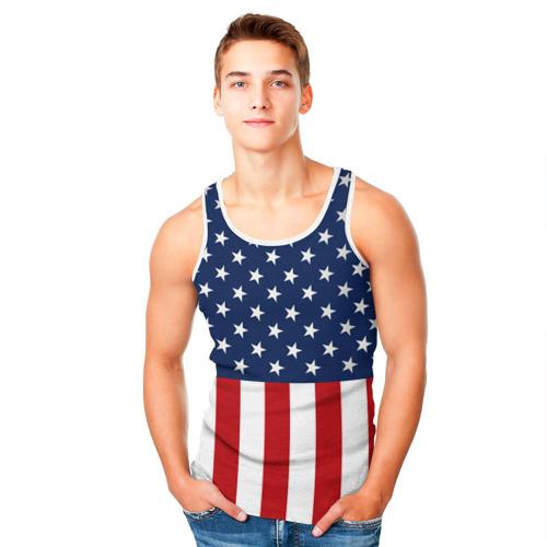 Мужская майка 3D  Фото 05, Флаг США