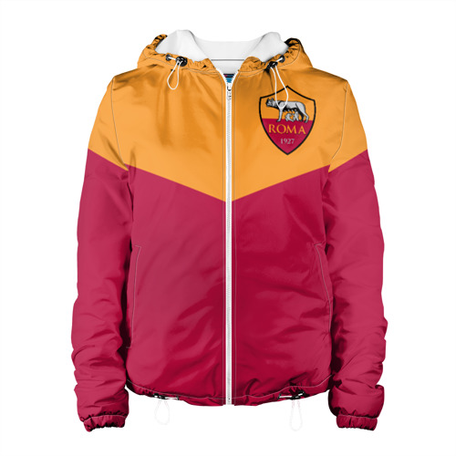 Женская куртка 3D  Фото 01, A S Roma - Yellow and Red