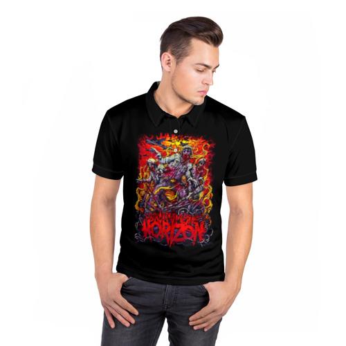 Мужская рубашка поло 3D  Фото 05, Зомби Bring Me the Horizon