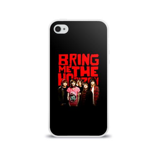 Чехол для Apple iPhone 4/4S силиконовый глянцевый Группа Bring Me the Horizon Фото 01