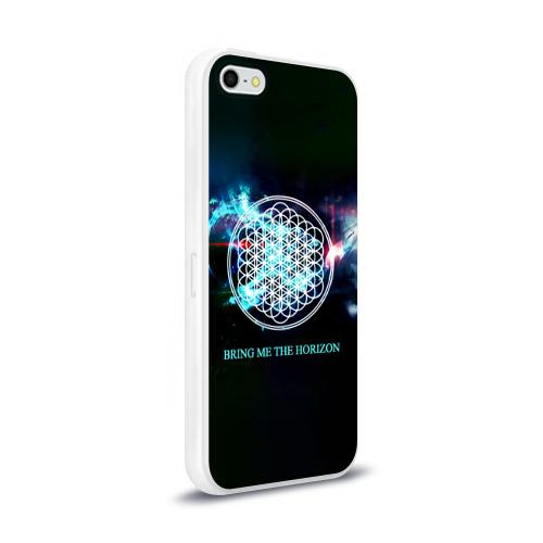 Чехол для Apple iPhone 5/5S силиконовый глянцевый  Фото 02, Bring Me the Horizon космос