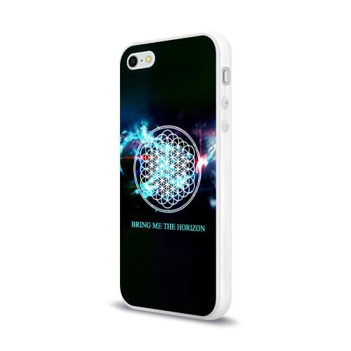 Чехол для Apple iPhone 5/5S силиконовый глянцевый  Фото 03, Bring Me the Horizon космос