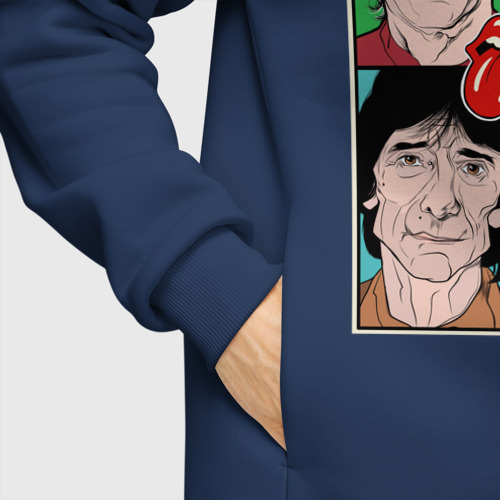 Мужское худи Oversize хлопок Rolling Stones Фото 01