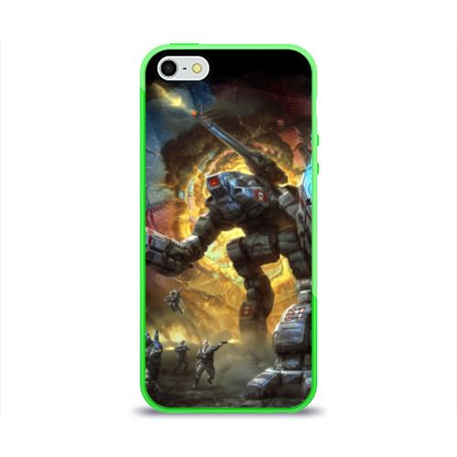 Чехол для Apple iPhone 5/5S силиконовый глянцевый  Фото 01, BattleTech