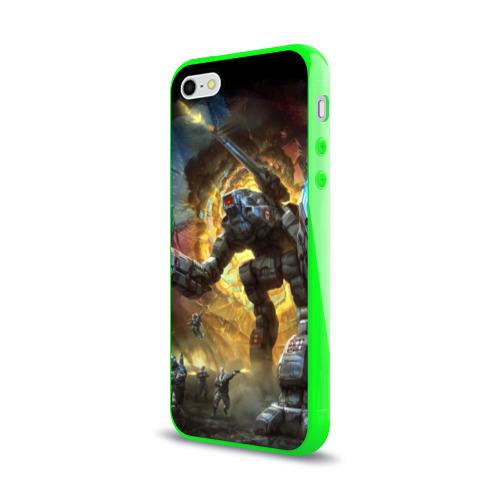 Чехол для Apple iPhone 5/5S силиконовый глянцевый  Фото 03, BattleTech