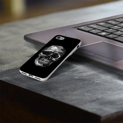 Чехол для Apple iPhone 8 силиконовый глянцевый  Фото 03, Череп