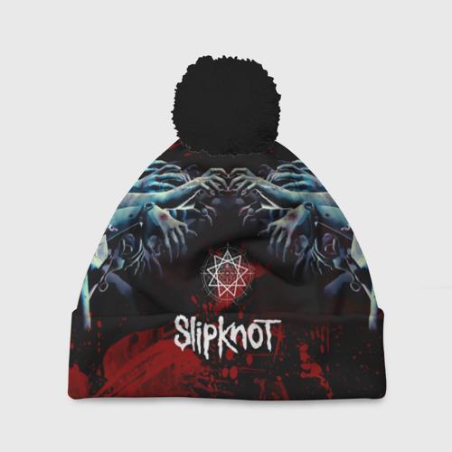 Шапка 3D c помпоном Slipknot руки зомби