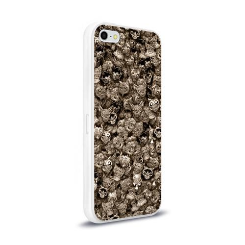 Чехол для Apple iPhone 5/5S силиконовый глянцевый  Фото 02, Зомби котики