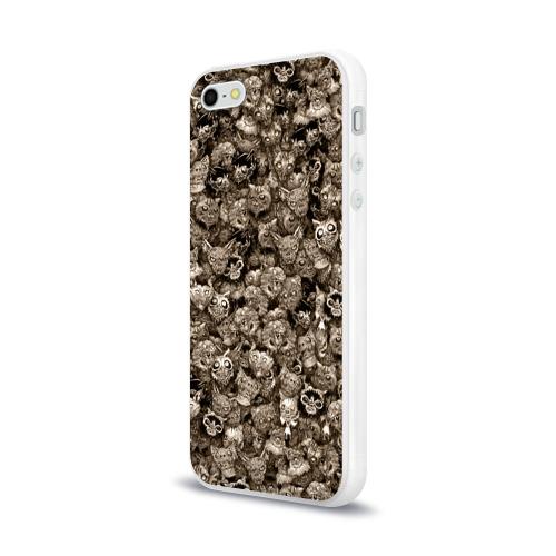 Чехол для Apple iPhone 5/5S силиконовый глянцевый  Фото 03, Зомби котики