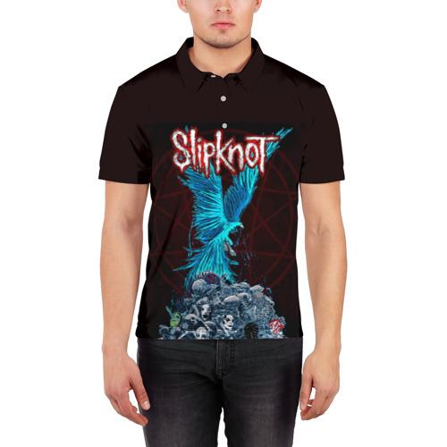 Мужская рубашка поло 3D  Фото 03, Орел группа Slipknot