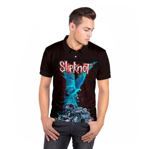Мужская рубашка поло 3D  Фото 05, Орел группа Slipknot