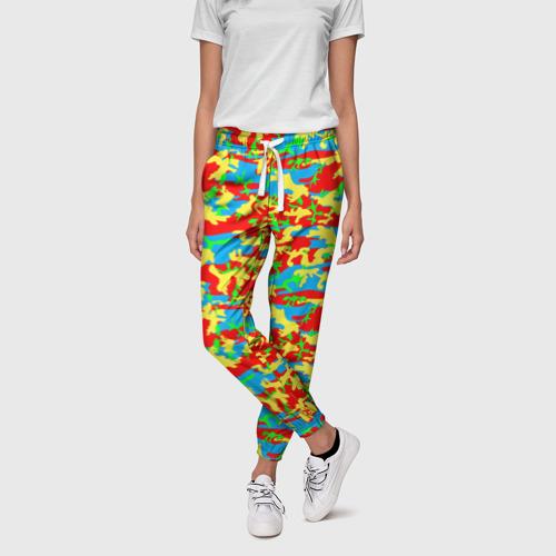 Женские брюки 3D  Фото 01, Яркий камуфляж