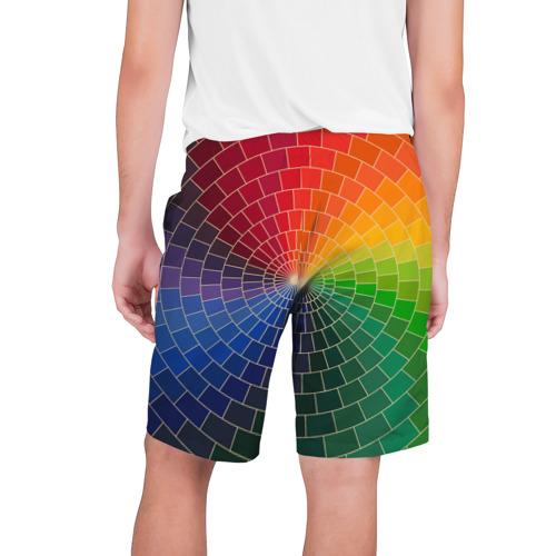 Мужские шорты 3D  Фото 02, Спираль цветов