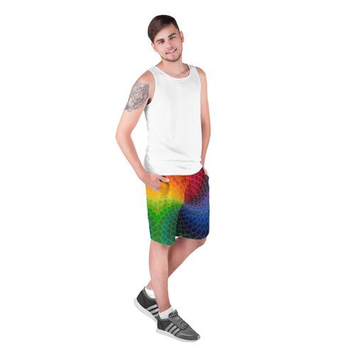 Мужские шорты 3D  Фото 03, Спираль цветов