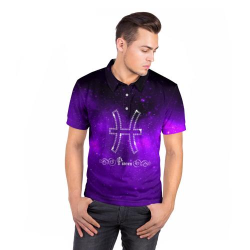Мужская рубашка поло 3D  Фото 05, Рыбы