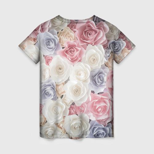 Женская футболка 3D Букет из роз Фото 01