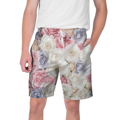 Мужские шорты 3D  Фото 01, Букет из роз