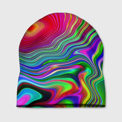 Шапка 3D  Фото 01, Цветные разводы