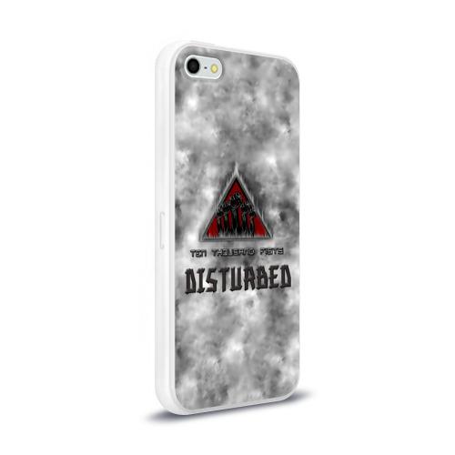 Чехол для Apple iPhone 5/5S силиконовый глянцевый  Фото 02, Disturbed