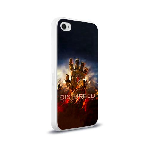 Чехол для Apple iPhone 4/4S силиконовый глянцевый  Фото 02, Disturbed рука