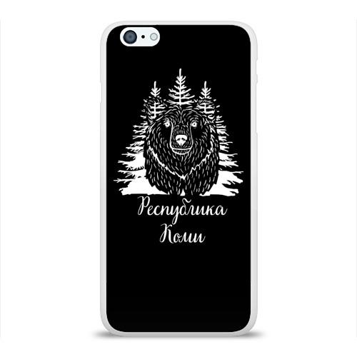 Чехол для Apple iPhone 6Plus/6SPlus силиконовый глянцевый  Фото 01, Медведь